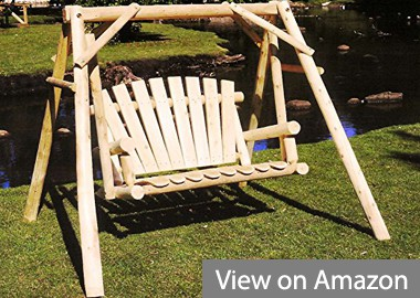 Lakeland Mills 4-Feet Natural Cedar Outdoor Yard and Porch Swing