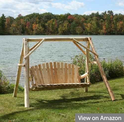 Lakeland Mills 5-Feet Natural Cedar Outdoor Yard and Porch Swing