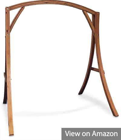 Cypress wood arch swing stand