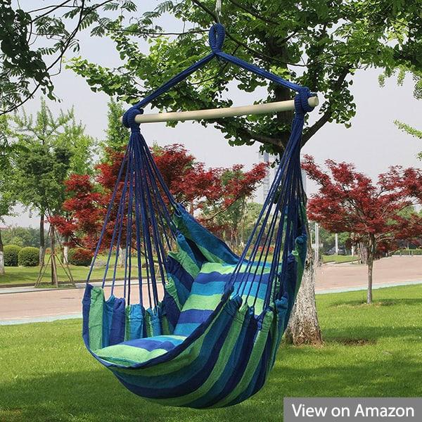 Sorbus Hanging Rope Hammock Porch Swing Seat