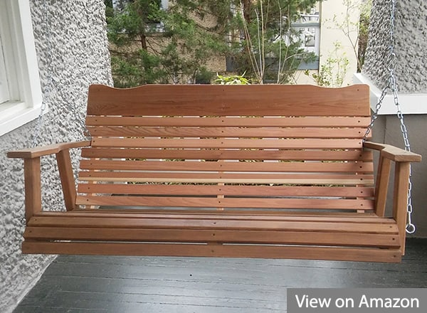 Kilmer Creek 4-Feet Natural Cedar Porch Swing Amish Crafted
