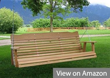 Kilmer Creek 5-Feet Natural Cedar Porch Swing Amish Crafted