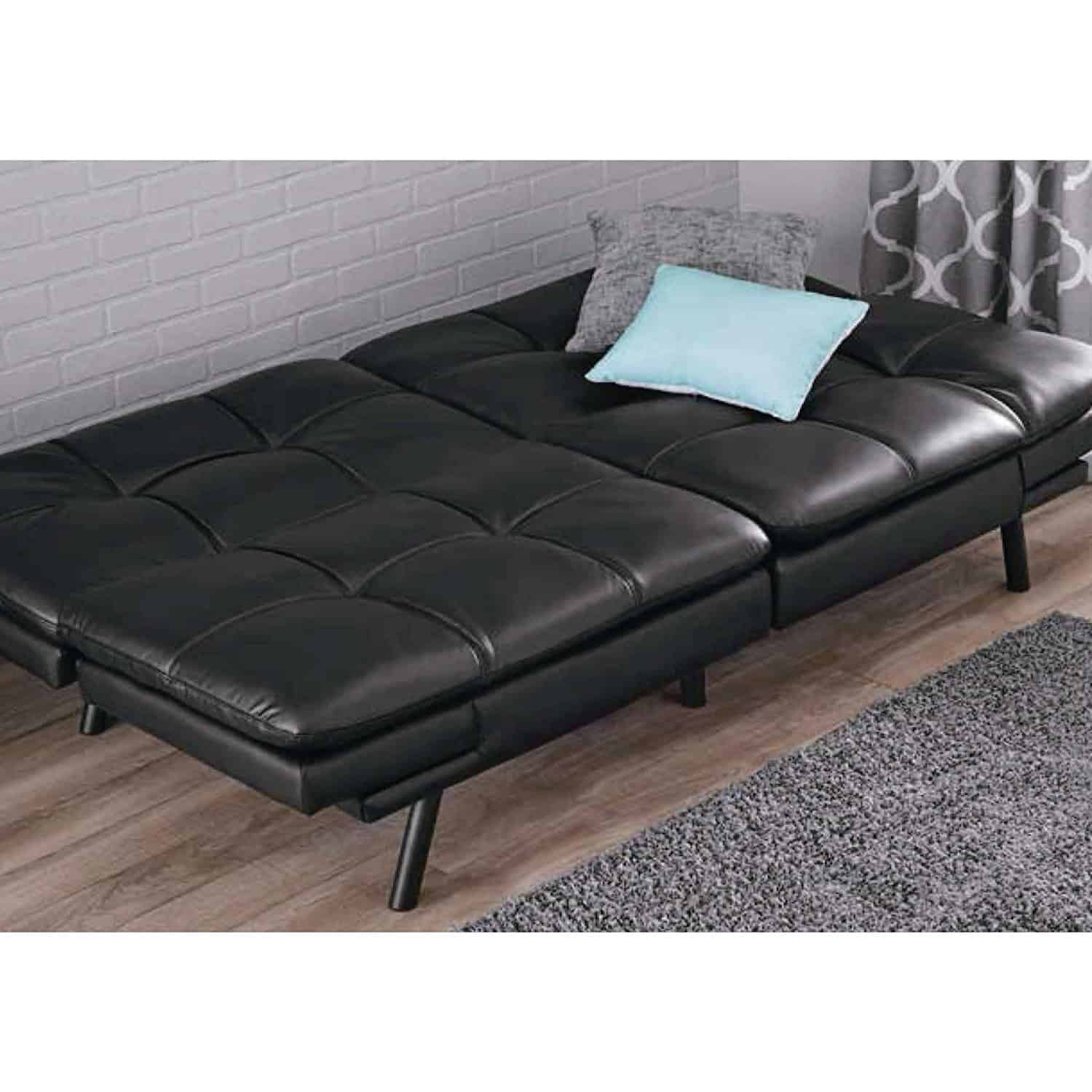 Mainstay Wooden Frame Memory Foam Futon Sofa Lounger Full Bad