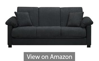 Montero Microfiber Convert-A-Couch Sofa Sleeper Bed Charcoal Grey