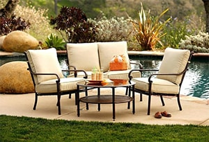 Outdoor patio furniture items