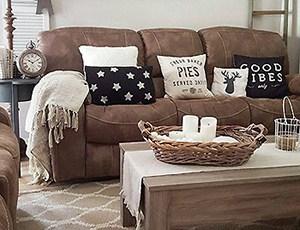 Sofa bed throw pillows