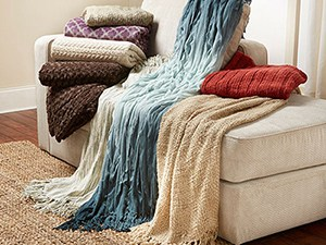 Sofa bed throws blankets