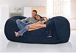 Titanium 90 Inches Microsuede Giant Bean Bag Chairs