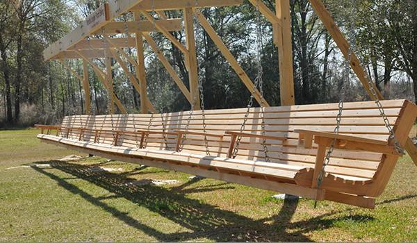 Worlds longest porch swing