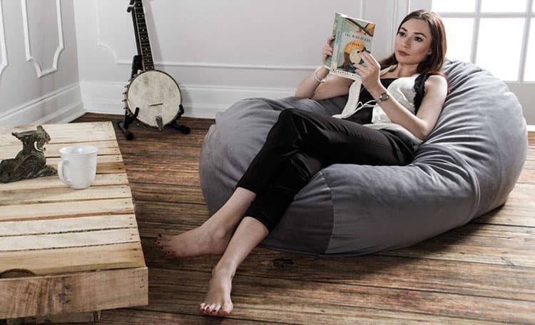 Relax in a giant bean bag chair
