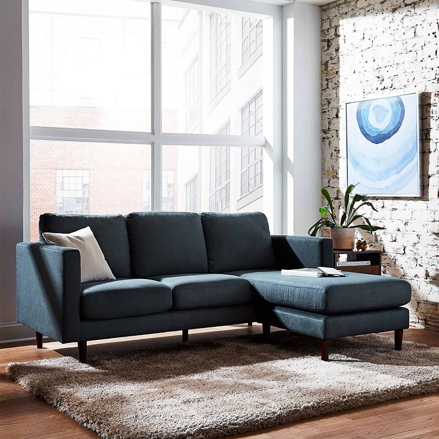 Page Furniture: Revolve Rivet Modern Reversible Chaise Sectional
