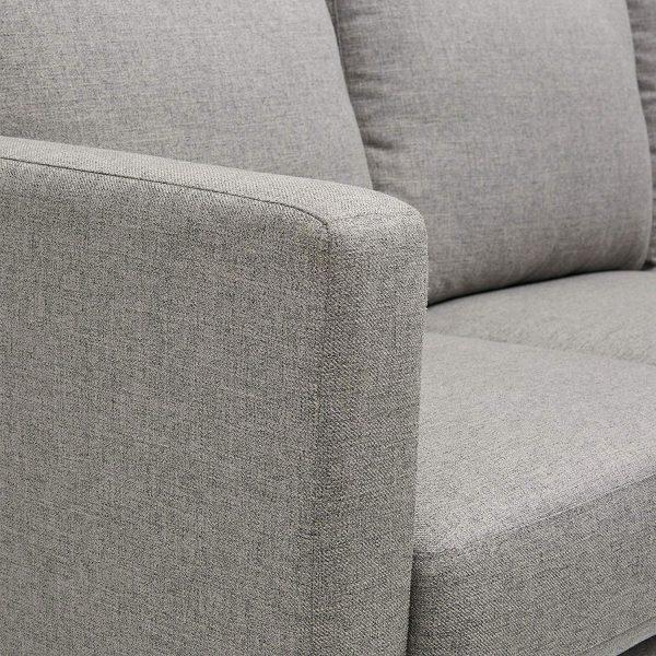 Revolve Rivet Modern Reversible Chaise Sectional details