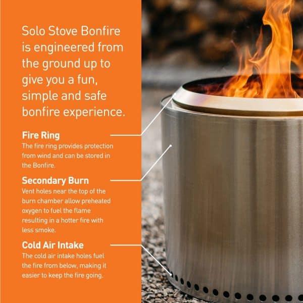 Solo Stove Bonfire Fire Pit details