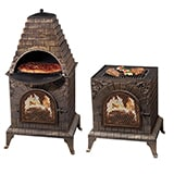 Deeco Aztec Allure Cast Iron Pizza Oven Chiminea
