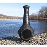 The Blue Rooster Co. Grape Cast Iron Chiminea in Charcoal