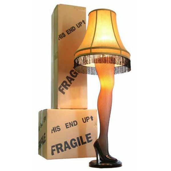 A Christmas Story House Full Size Leg Lamp