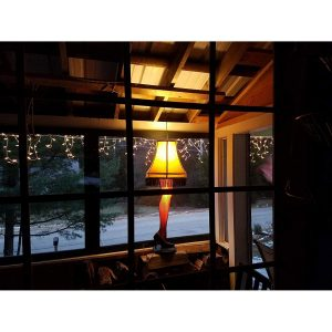 A Christmas Story House Full Size Leg Lamp barn