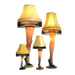 A Christmas Story House Full Size Leg Lamp models