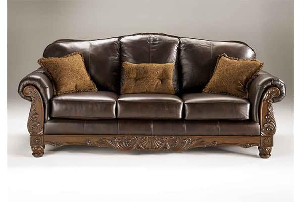 North Shore Leather Camelback Sofa