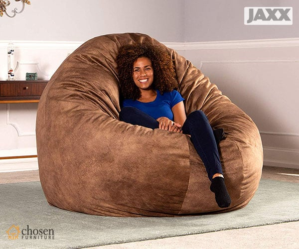 6 Foot Cocoon Premium Padded Microvelvet Fluffy Bean Bags Chair