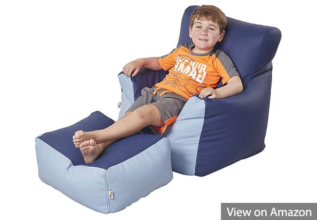 ECR4Kids Bean Bag Chair and Ottoman Set for Gaming
