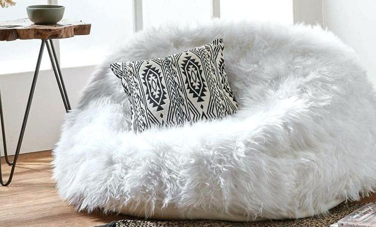fluffy bean bags chairs