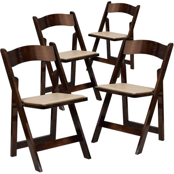 HERCULES Series Fruitwood Wood Folding Chair