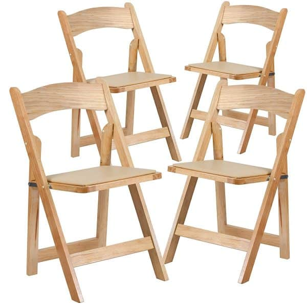HERCULES Series Natural Wood Folding Chair