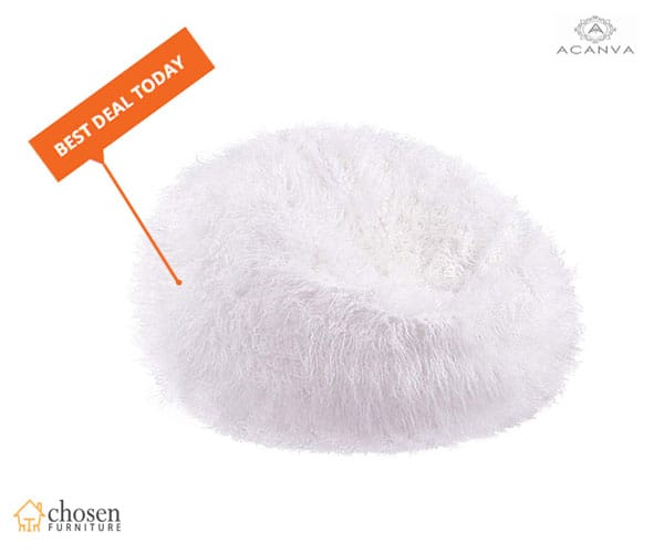 Large Plush Faux Fur Teardrop Slacker Fluffy Bean Bags Chair