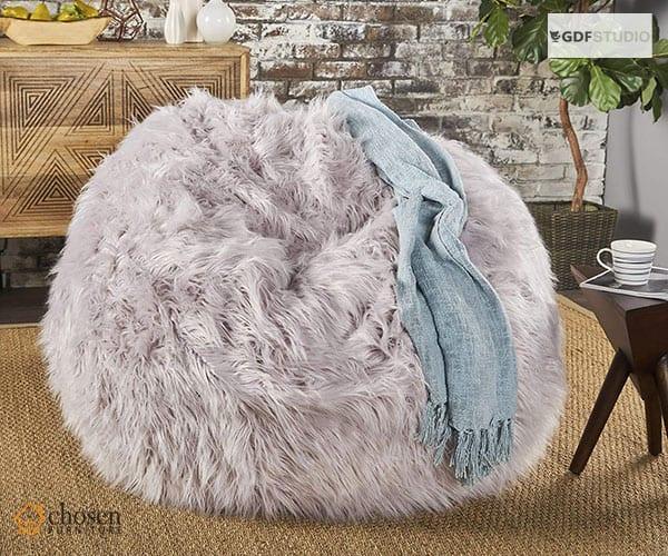 Lycus Faux Fur Fluffy Bean Bags Chair