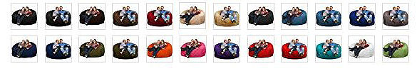 ULTIMATE SACK 6000 Bean Bag Chair for Gaming With Footstool colors