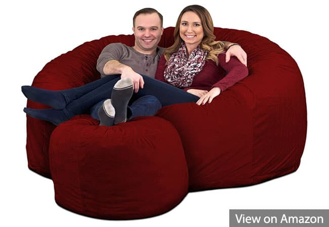 ULTIMATE SACK 6000 Bean Bag Chair for Gaming With Footstool