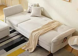 Durazo Twin Size Sofa Sleeper as a Bed