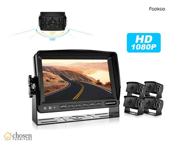 Fookoo FHD4-Wired HD Backup Camera System Kit