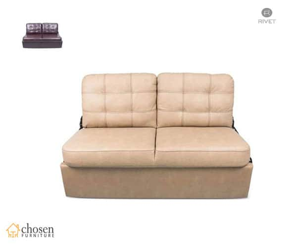 Jack Knife RV Sleeper Sofa Beckham Tan With Kickboard