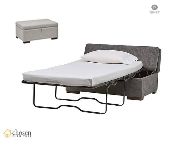 Rivet Fold Modern Ottoman RV Sofa Bed