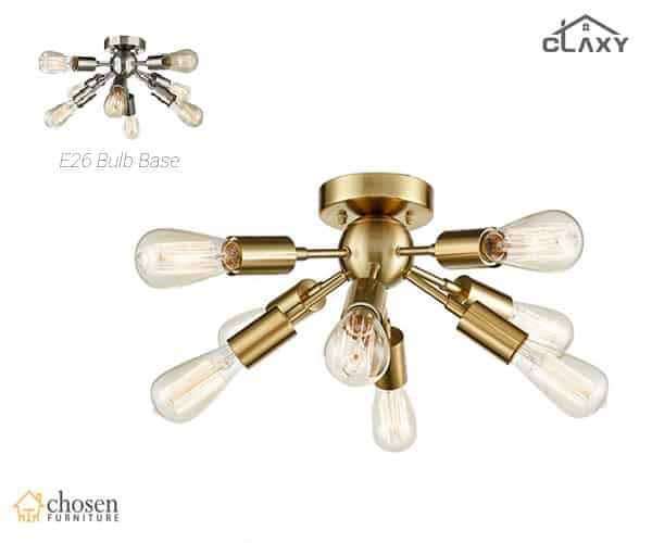 CLAXY Ecopower Antique Brass Sputnik Chandelier