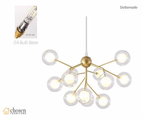 Dellemade Sputnic Chandelier Golden Pendant Light