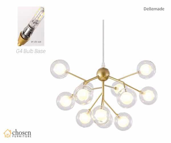 Dellemade Sputnik Chandelier Golden Pendant Light