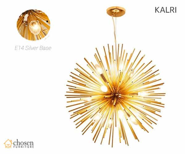 KALRI Golden Sputnik Chandelier Pendant Lighting