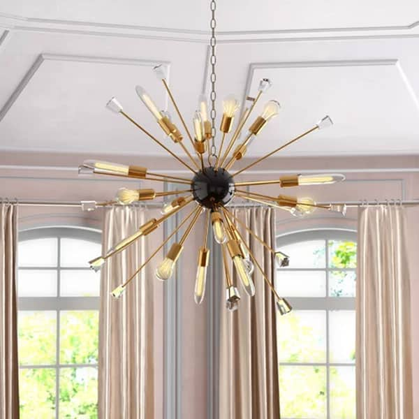 Kuehl 24 Light Chandelier with Bulbs and Decorative Glass Objects house
