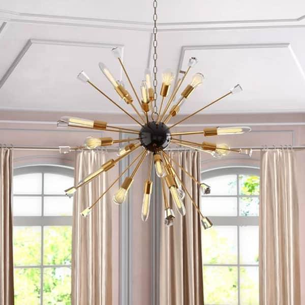 Kuehl 24 Light Sputnik Chandelier with Bulbs and Decorative Glass Objects house