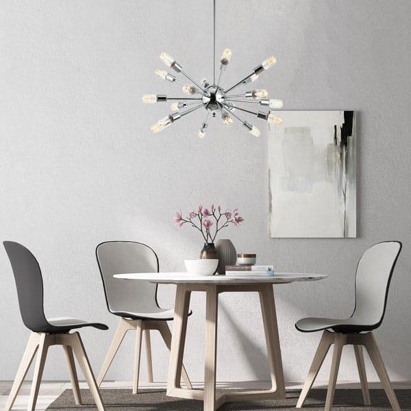 Light Society Sputnik Chandelier Pendant Industrial Starburst Style
