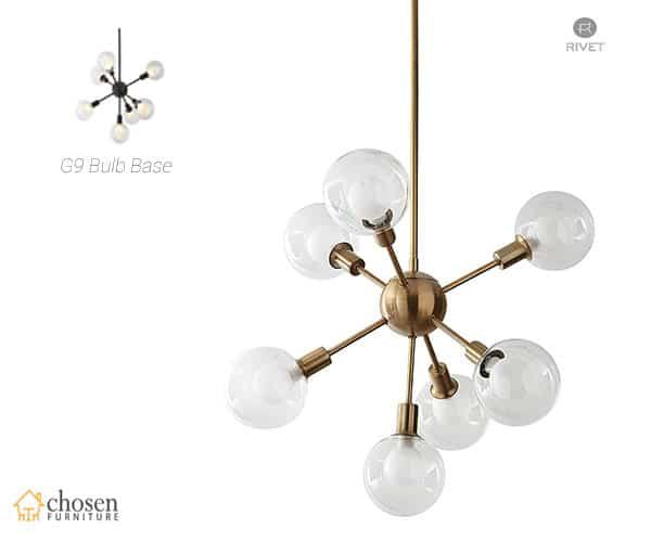 Rivet Mid-Century Modern Sputnik Chandelier