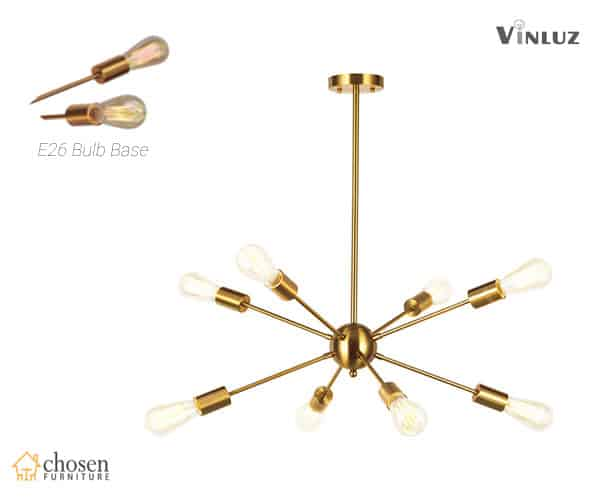 VINLUZ Sputnik Chandelier Contemporary