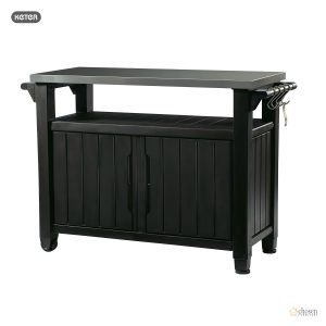 Keter Unity XL Outdoor BBQ Prep Station black