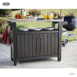 Keter Unity XL Outdoor BBQ Prep Station close