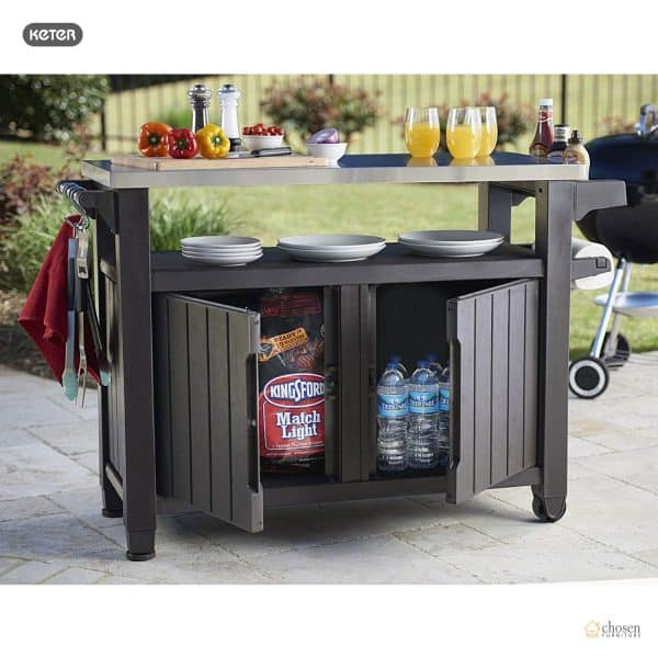 Keter Unity XL Outdoor BBQ Prep Station front