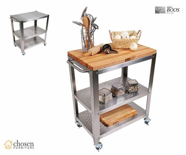 John Boos Cucina Americana Kitchen Islands Carts with Butcher Block