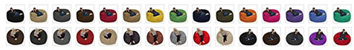 Chill Sack Memory Foam Furniture Bean Bag colors